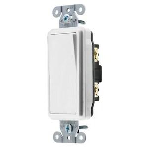 Hubbell-Kellems DS115W Decora Switch, 1-Pole, 15A, 120/277VAC, White