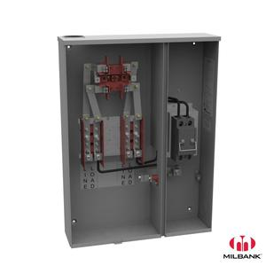 Milbank U224MTB-P 200A, 4 Jaw, Ring Type Meter Socket