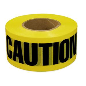 "Dottie BT5 Barricade Tape, ""Caution"", 3"" x 1000', Yellow"