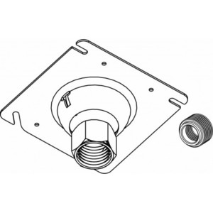 Orbit Industries SCS-75 Cover Plate, Square, Swivel-Type, 4""