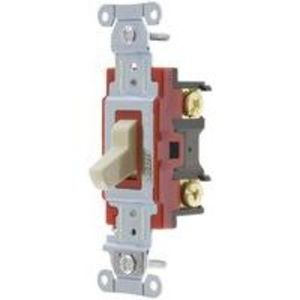 Hubbell-Kellems 1223I Three-Way Switch, 20A, 120/277VAC, Ivory