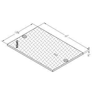 """Oldcastle Precast 2002180 Steel Checker Cover, 2-Piece, 40"""" x 28"""", with (4) Bolts"""
