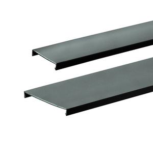"Panduit C2.5BL6 PANDUCT Wiring Duct Cover, 2-1/2"" x 6', PVC, Black"