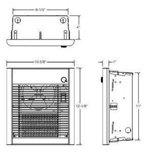"Berko SRASMAG Surface Mounting Frame, 12-1/2"" x 10-3/8"" x 4"", Statuary Bronze"