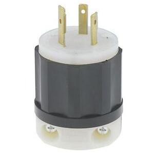 Leviton 2351 Locking Plug, 20A, 600VAC, 2P3W