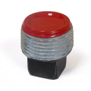 "Plasti-Bond PRPLG35 Square Head Plug, 1"", Ferrous Metal/Polyurethane"