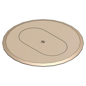 "Steel City P-68-DRC-BGE Round Duplex Receptacle Cover, Diameter: 6"", Beige, Non-Metallic"