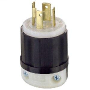 Leviton 2711 Locking Plug, 30A, 125/250V, L14-30P, 3P4W