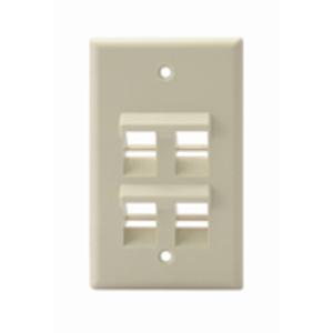 Leviton 41081-4IP Angled Wallplate 1 G 2 Port Ivory