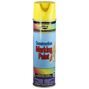 Dottie 258 Yellow Construction Marking Paint, 20 oz,  Aerosol