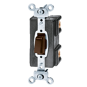 Hubbell-Kellems HBL1281MO AC Switch, 1-Pole, Momentary Open, 20A, 120/277V, Brown