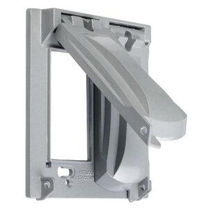 Hubbell-TayMac MX2050S Weatherproof Cover, 2-Gang, Vertical, Type: 25 in 1, Die Cast