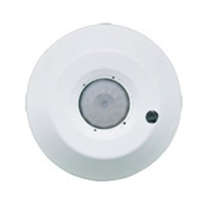 Leviton ODC04-IDW Product Line: Provolt, Technology: Passive Infrared, Line Voltage: Yes, Mount: Ceiling, Coverage (Sq.Ft.): 450 Sq. Ft., Adjustment: Self-Adjusting, Pattern Degrees: 360, Grade: Commercial, Color: White, Title 24 Compliant: Yes