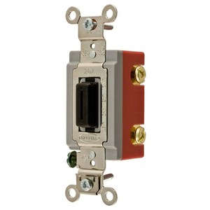 Hubbell-Kellems HBL1221L Extra Heavy Duty Industrial Locking Switch, Single Pole, 20A, Black