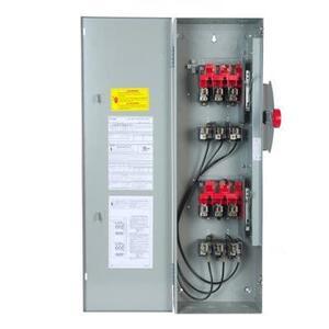 GE TDT3362 Safety Switch, Double Throw, Heavy Duty, 60A, 600VAC, NEMA 1