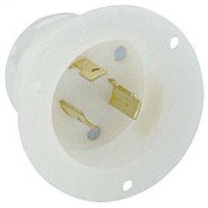 Leviton 2315 Locking Flanged Inlet, 20A, 125V, 2P3W