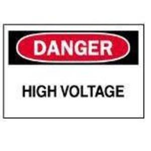 Brady 84876 Voltage Sign