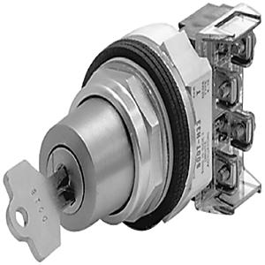 Allen-Bradley 800T-J91 Selector Switch, 3-Position, 30mm, Knob, Spring Return from Both