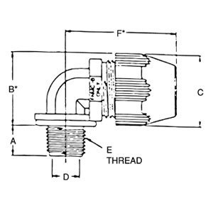 "Thomas & Betts LT9150P 1 1/2"" 90 Deg Bullet Connector"