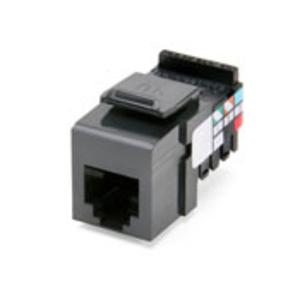Leviton 41106-RG6 Voice Grade Snap-In Connector, Gray