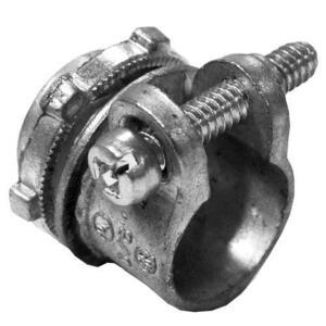 "Appleton SC-50 Flex Connector, Squeeze, Straight, 1/2"", Die Cast Zinc"