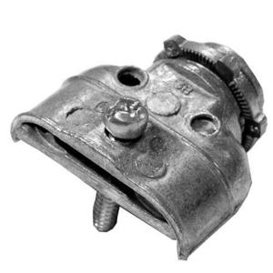 "Appleton DC-5500 AC/Flex Connector, 3/8"", Duplex, 1-Screw Clamp, Zinc Die Cast"