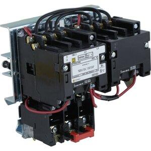 Square D 8736SCO8V02S Starter, Size 1, 27A, 600VAC, 120VAC Coil, Reversing, Open, 3P