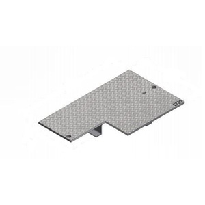 "Oldcastle Precast B1730-61JH-COMMUNICATION Rectangular Cover, 17 x 30"", Flush Type, Steel"