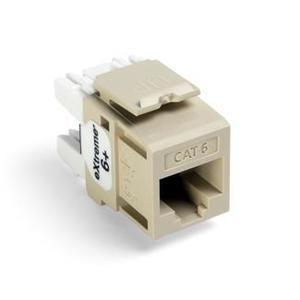 Leviton 61110-RI6 Snap-In Connector, Quickport, eXtreme 6+, CAT 6, Ivory, 50 in a Bag