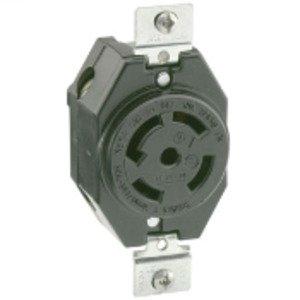 Leviton 2820 Locking Single Receptacle, 30A, 3PH Y 277/480V, 4P5W