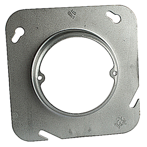 "Steel City 72-C-3-3/4 4-11/16"" Square Fixture Cover, Mud Ring, 3/4"" Raised, Drawn, Steel"