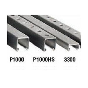 "Plasti-Bond PBP3300-10 Channel, with Holes, PVC Coated Steel, 1.67"" x .92"" x 10'"