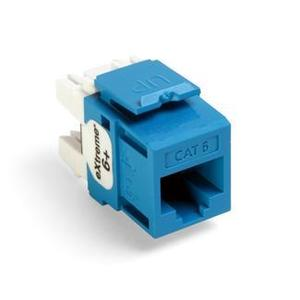 Leviton 61110-RL6 Snap-In Connector, Quickport, eXtreme 6+, CAT 6, Blue