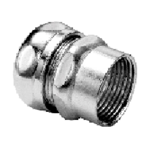 "Bridgeport Fittings 291-MS Combination Coupling, EMT: 3/4"", Rigid: 3/4"", Steel"