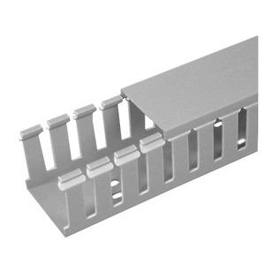 "Panduit G2X2LG6 Wiring Duct, Wide Slot, 2"" x 2"" x 6', PVC, Gray"