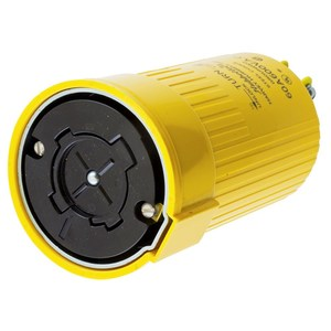 Hubbell-Kellems HBL26418 Locking Connector, Non-NEMA, 60A, 600V, Yellow