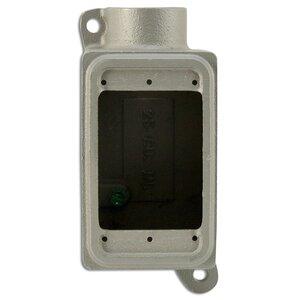 "Appleton FD-1-75L-A FD Type Cast Box, 1-Gang, 3/4"" Hub, Aluminum"
