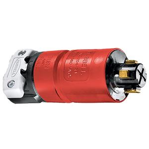 Hubbell-Kellems HBL20445B Locking Plug, Non-NEMA, 30A, 3PH 480V, 3P4W, Red