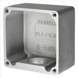 Hubbell-Kellems HBL26401 Box For 60a H/lock Rcpts, Cast Alum