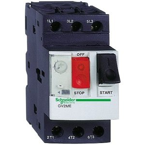 Square D GV2ME07 Manual Motor Control, Breaker, 1.6-2.5A, 600VAC, 3P, Screw Clamp