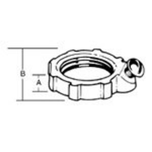 "Thomas & Betts LG-405 Grounding Locknut, 1-1/2"", Steel"