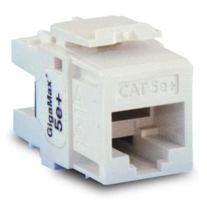Leviton 5G110-RW5 Snap-In Connector, Cat 5e+, White