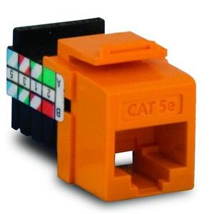 Leviton 5G108-RO5 Snap-In Category 5e Connector, Orange