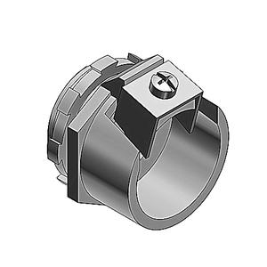 "Thomas & Betts 302-TB Flex Connector, 1-Screw Clamp, 1/2"", Steel"