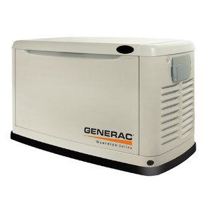 Generac 6439 Generator, Standby, 11kW, Air Cooled, 120/240VAC, Natural Gas, LPG