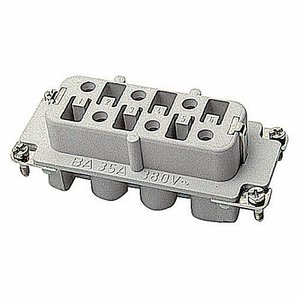 Thomas & Betts FS106C Screw Terminal Insert, Female, Use with C Series, 6 Contacts w/Ground