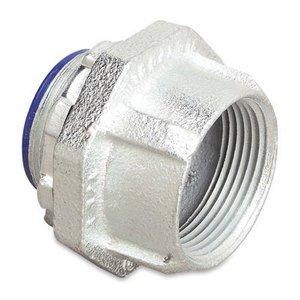 """Thomas & Betts 376 Conduit Hub, Size: 2-1/2"""", Insulated, Malleable Iron/Zinc"""