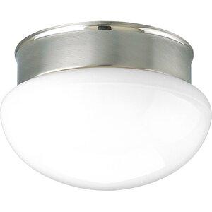 Progress Lighting P3410-09 Close to Ceiling Light, 2 Light, 60W, Brushed Nickel