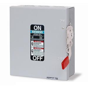 Siemens GF221N Safety Switch, 30A, 2P, 240V, GD Fusible, NEMA 1