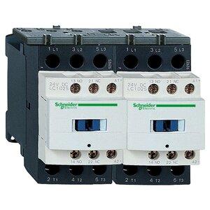Square D LC2D25G7 Contactor, Reversing, 25A, 3P, 600VAC, 300VDC, 120VAC Coil